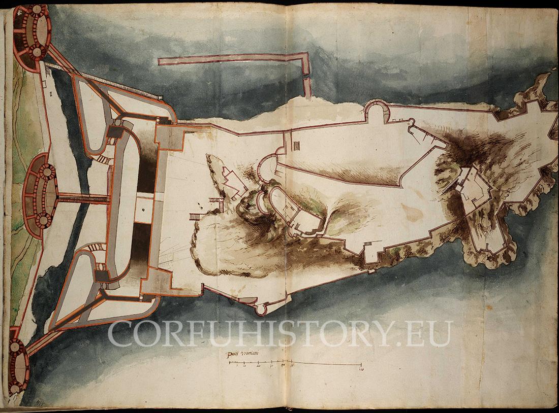 Αν και η εντολή που έλαβε ο Βιτέλι περιλάμβανε και βελτιώσεις στο Παλαιό Φρούριο, αυτές δεν θα γίνουν ποτέ. Σε σχέδιο του Βιτέλι διακρίνεται η προσθήκη 3 εξωτερικών οχυρώσεων και τροποποιήσεις στους δύο προμαχώνες.