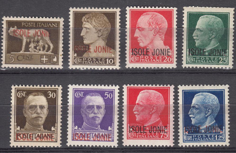 Ιταλικά γραμματόσημα με την επιτύπωση «Ιόνια Νησιά».