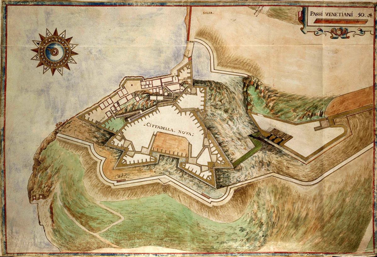 Εικ.2b Επίσημο σχέδιο κατασκευής του F. Vitelli Corfu, pianta della cittadella nuova (AST, Corte, Bibiioteca antica, Architettura militare, V, f. 119)
