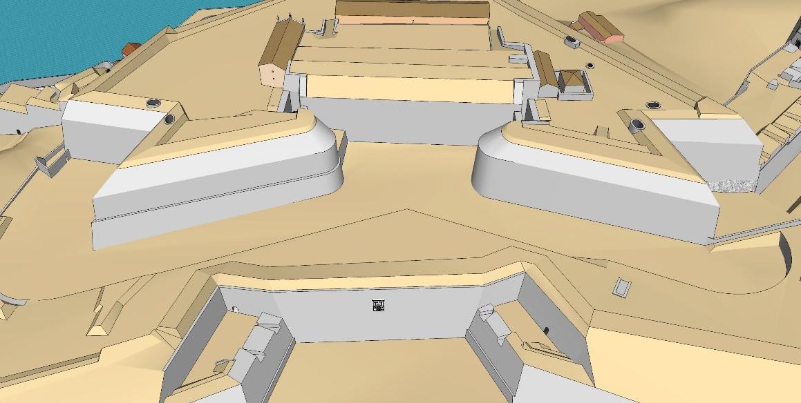 εικ.3. Οι ψαλιδωτοί ημιπρομαχώνες του σχεδιασμού Vitelli.