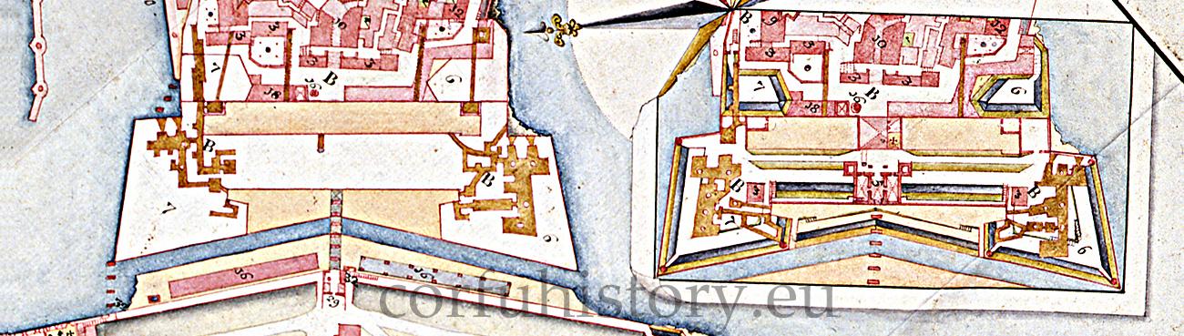 Το εσωτερικό των δύο προμαχώνων (δεύτερο μισό 18ου αι.)