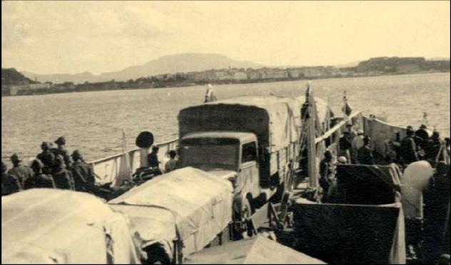 Μάιος 1941, τμήματα της Acqui Αποβιβάζονται στην Κέρκυρα