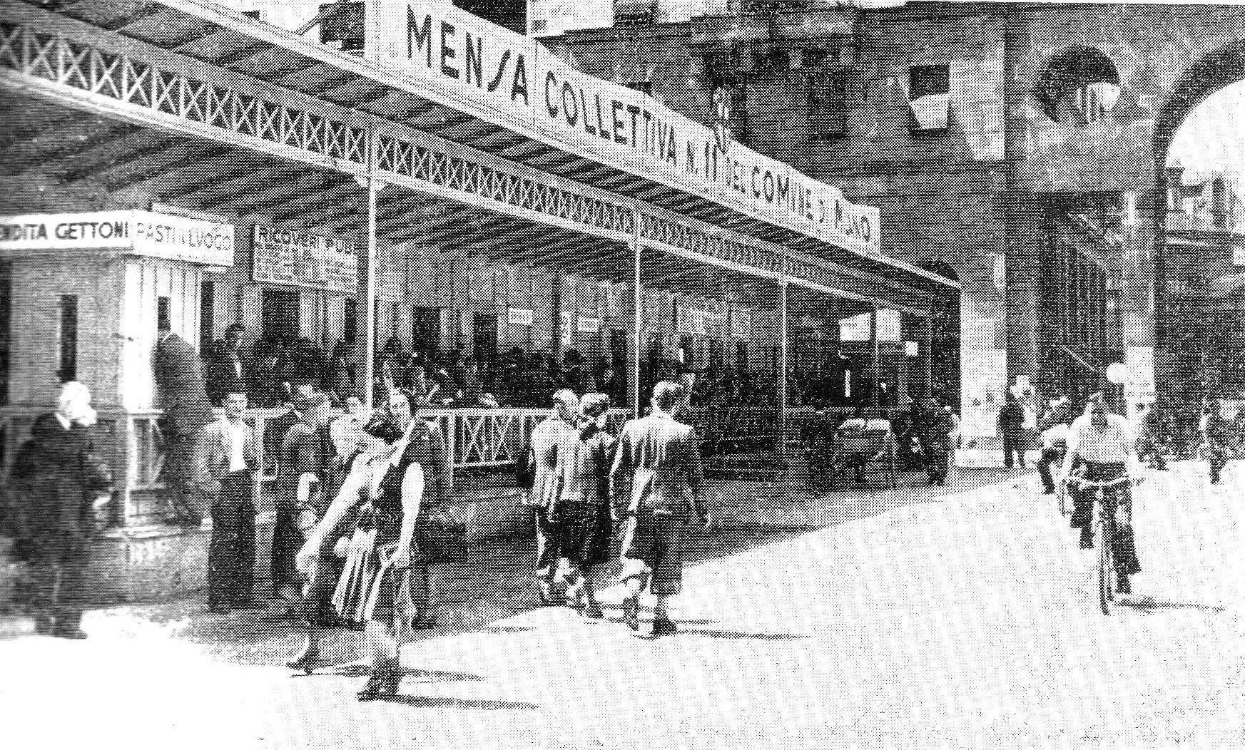 Ο Παρίνι στο Μιλάνο το 1944 θα οργανώσει 10 κέντρα δημόσιων συσσιτίων, με ικανότητα 50.000 γευμάτων την ημέρα.