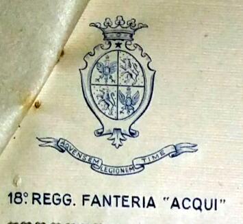Ο θυρεός του 18ου Συντάγματος της Acqui «Aqvensem Legionem Time»